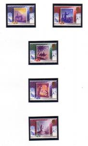 Great Britain Sc 1234-38 1988 Christmas stamp set mint NH