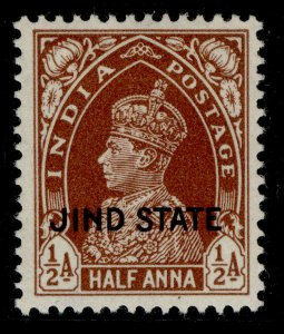INDIAN STATES - Jind GVI SG110, ½a red brown, M MINT.