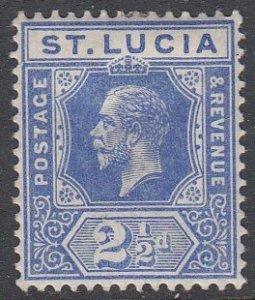 St. Lucia 67 MH CV $4.50