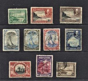 STAMP STATION PERTH Bermuda #105-114 KGV Short Set to 1/6d  Used - CV$25.00