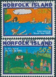 Norfolk Island 1985 SG369-370 Children's Paintings set FU