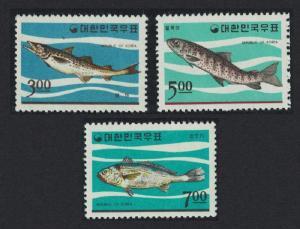 Korea Korean Fishes 3v SG#637-639 SC#496-498