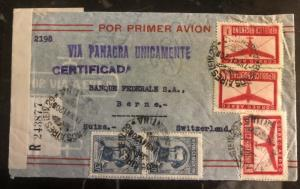 1941 Buenos Aires Argentina First Flight Cover FFC To Bank Berne Switzerland
