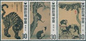 Korea South 1970 SG887-889 Paintings of the Yi Dynasty set MNH