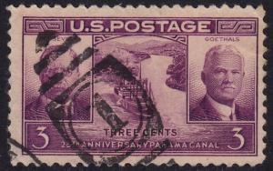 USA - 1939 - Scott #856 - used - Panama Canal - cancel interest?