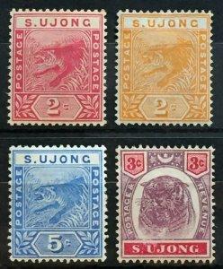 Malaya Sungei Ujong 1891-95 Tiger 4V MH SG#50-52 & 55 M2444
