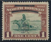 North Borneo  SG 335 SC# 223 MH    OPT GR Crown - See scan