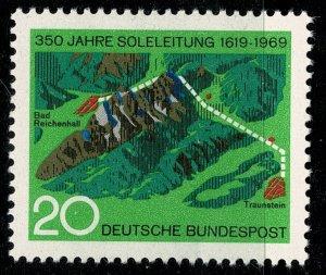 GERMANY 1969 350th ANNI.BAD REICHENHALL PIPELINE SG1502 MINT (NH) SUPERB