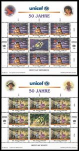 1996 UN Vienna 218KL-219KL UNICEF, children's stories 18,00 €