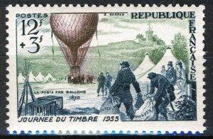 France 1955, 12+3 Fr Day of the stamp VF MNH, Mi 1043 5€
