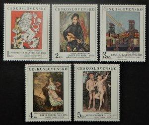 Czechoslovakia 2634-38. 1986 November Paintings, NH