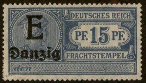 Germany Frei Stadt Danzig Frachtstempel Freight Revenue Stamp 96165