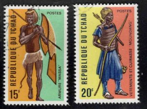Chad TCHAD Scott 277-278 Used CTO Warrior stamp set