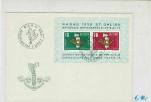 Switzerland 1959 National Stamps Ex. Bern Slogan Cancels Stamps Cover Ref 25821