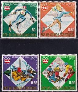 Equatorial Guinea, Sc 7613, 7617-7619, MNH, 1976, Olympics Innsbruck, AA02428