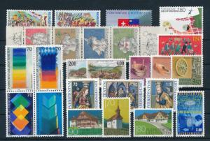 Liechtenstein 1998 Complete Year Set MNH