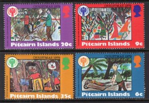 Pitcairn Islands MNH 188-91 Christmas & IYC 1979 SCV 1.70