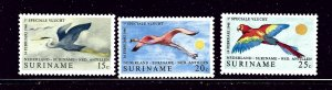 Surinam 382-84 MNH 1971 Birds in Flight