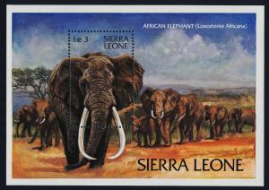 Sierra Leone 590 MNH Elephants, WWF