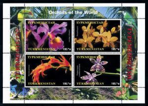 [79846] Turkmenistan Local Issue  Flora Flowers Blumen Orchids Sheet MNH