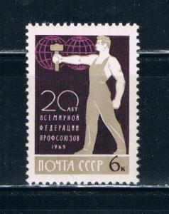Russia 3091 MNH Worker and Globe (R0185)+