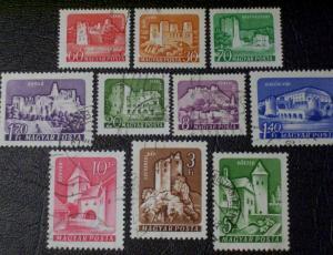 Hungary Scott #1282-1291 used