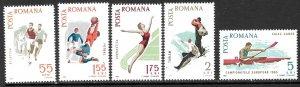 ROMANIA 1965 Spartacist Games Sports Set Sc 1789-1793 MNH