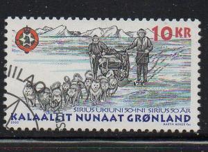 Greenland Sc 362 2000 Dog Sled Patrol stamp used