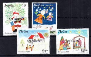 Nevis 1982 Christmas 'Specimen' MNH set WS11794