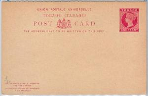 TOBAGO -  POSTAL STATIONERY CARD: Higgings & Gage # 8 - DOUBLE CARD