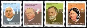 Transkei - 1983 Heroes of Medicine Set MNH** SG 125-128
