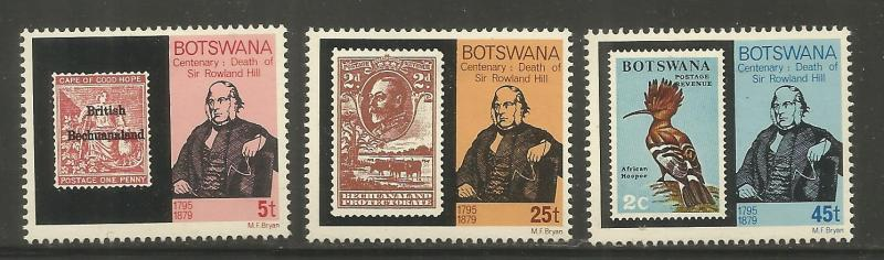 BOTSWANA  234-236  MINT HINGED, SIR ROWLAND HILL