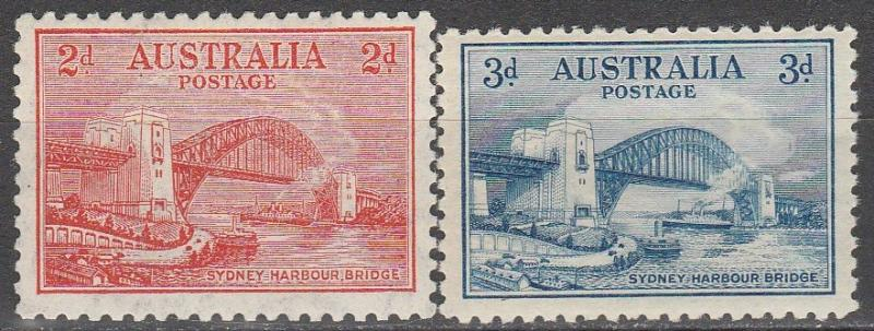 Australia #130-1 F-VF Unused  CV $12.00  (A7780)