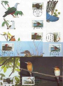 Micronesia 8 FDC/cards WWF/Birds 1990