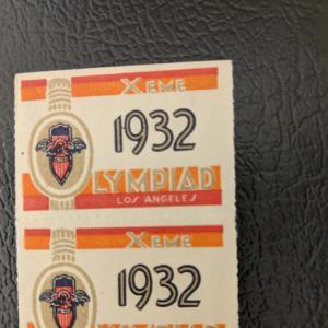 1932 Olympiad cinderella NH (top LH), CV $24