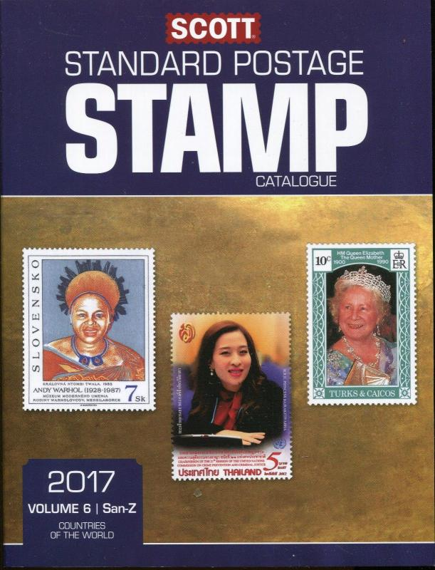 2017 SCOTT STANDARD POSTAGE STAMP CATALOGUE VOLUME 6 San-Z