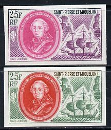 St Pierre & Miquelon 1970 Celebrities 25f Etienne Fra...
