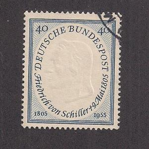 GERMANY SC# 727 F-VF U 1955