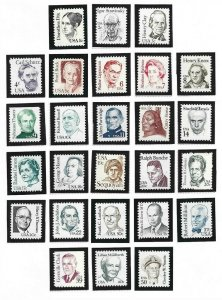 1980-1985 Great Americana Issue (#1844/1869) (26), MNH, (1)