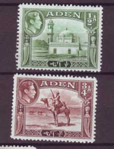 J20860 Jlstamps 1939-48 aden mh #16-7 designs views