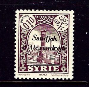 Alexandretta 1 MH 1938 overprint