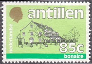 Netherlands Antilles # 543B used ~ 85¢ Government Building, Bonaire