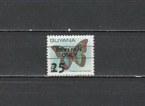 Guyana, Scott cat. 279. Butterfly value o/printed Revenue Only. ^