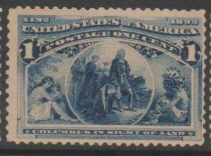 U.S. Scott #230 Columbus Stamp - Mint NH Single - IND