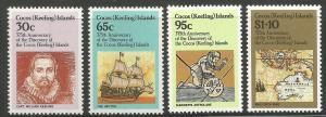 COCOS ISLANDS, 115-118, MNH, ISLAND DISCOVERY