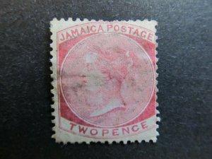 A4P20F1 Jamaica 1870-83 Wmk Crown CC 2d used