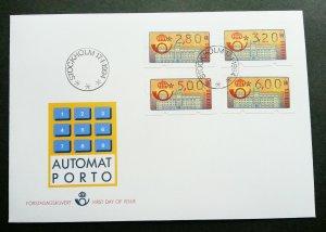 Sweden 1994 ATM (frama label FDC) *rare
