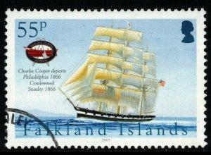 FALKLAND ISLANDS SG1023 2005 55p MARITIME HERTAGE FINE USED