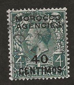 GREAT BRITAIN OFFICES - MOROCCO SC# 59  F/U 1917