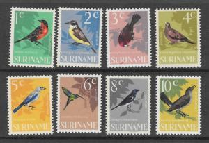 SURINAM Scott #323 - 330 Mint NH bird stamps stamps 2015 CV $4.00